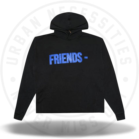 Vlone Friends Hoodie 'Black/Blue'-Urban Necessities