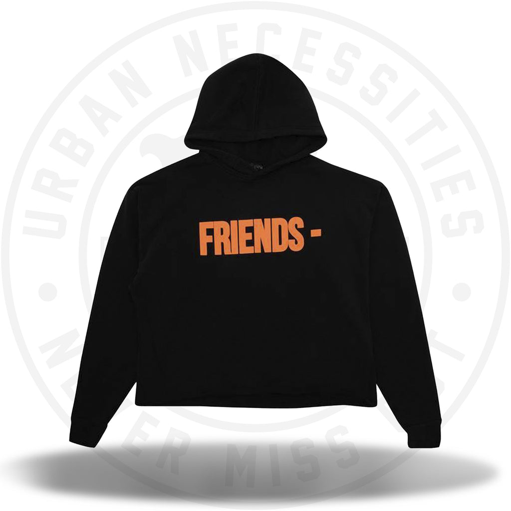 Vlone Friends Hoodie 'Black/Orange'-Urban Necessities