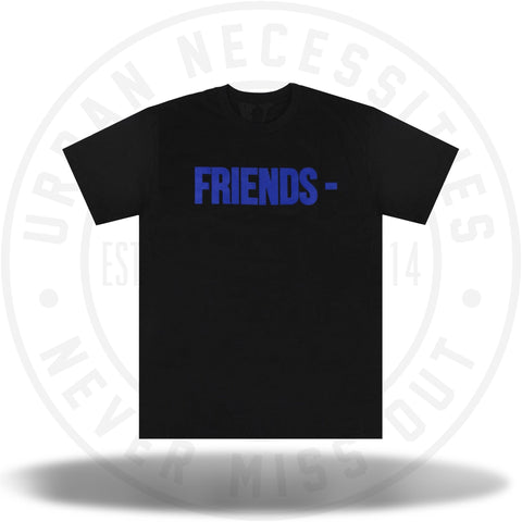 Vlone Friends Tee Black/Blue-Urban Necessities