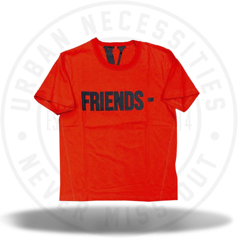 Vlone Friends Tee Red/Black-Urban Necessities