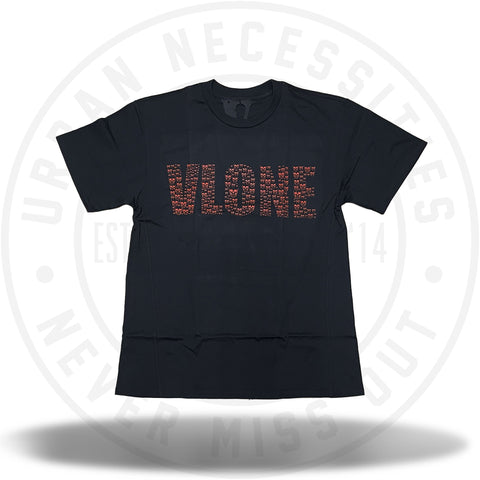 Vlone Small Skulls Tee Red/Black-Urban Necessities