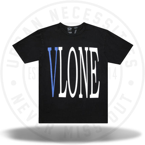 Vlone Staple Tee Black/Blue-Urban Necessities