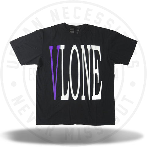Vlone Staple Tee Black/Purple-Urban Necessities