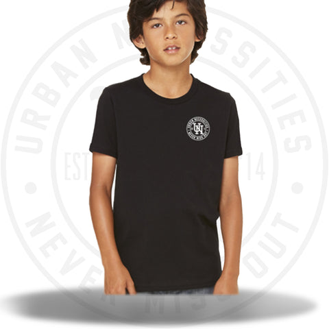 Youth UN Stamp Tee Black/White-Urban Necessities