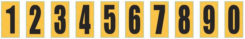 Number Sticker Black on Yellow