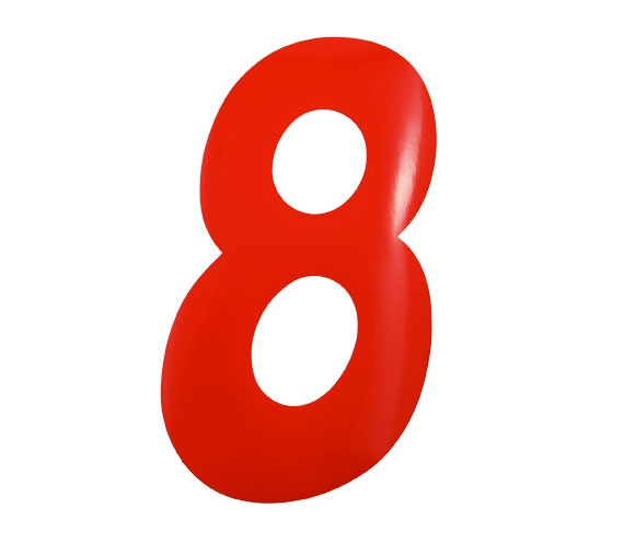 Number Sticker Red