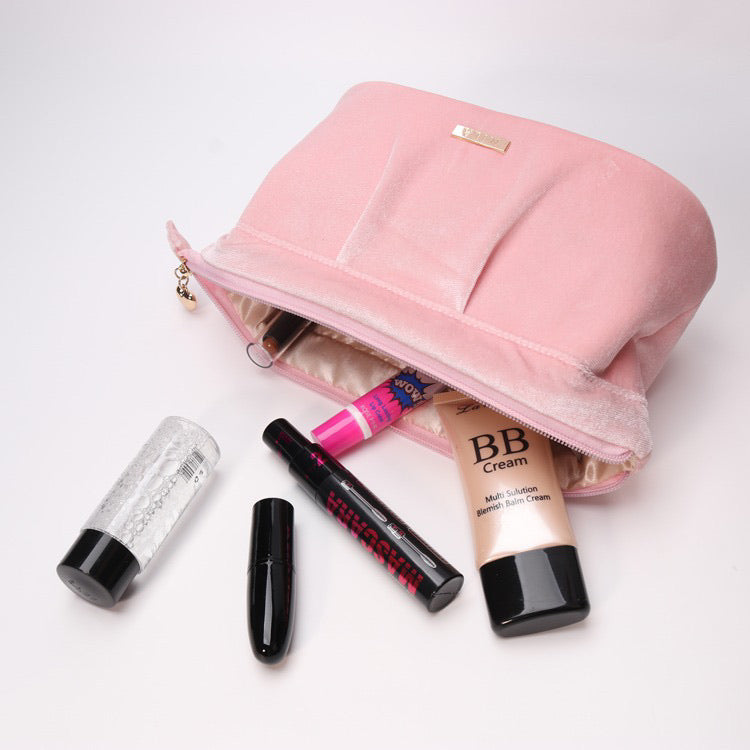 Velvet Blush Makeup Bag