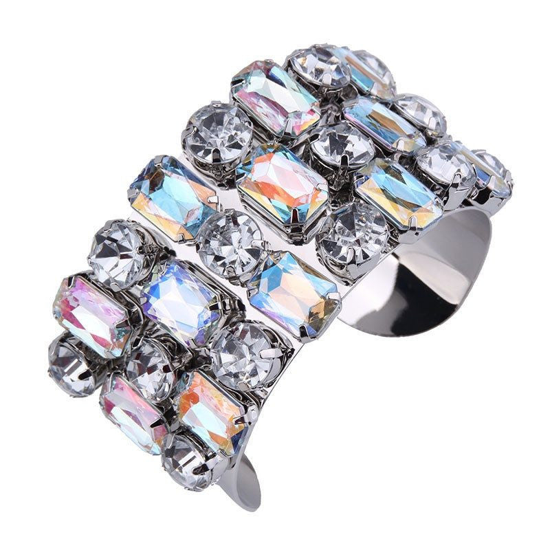 Fashion Bangle - Tamia Stunning Luxury Multi-Crystals Cuff Bangle