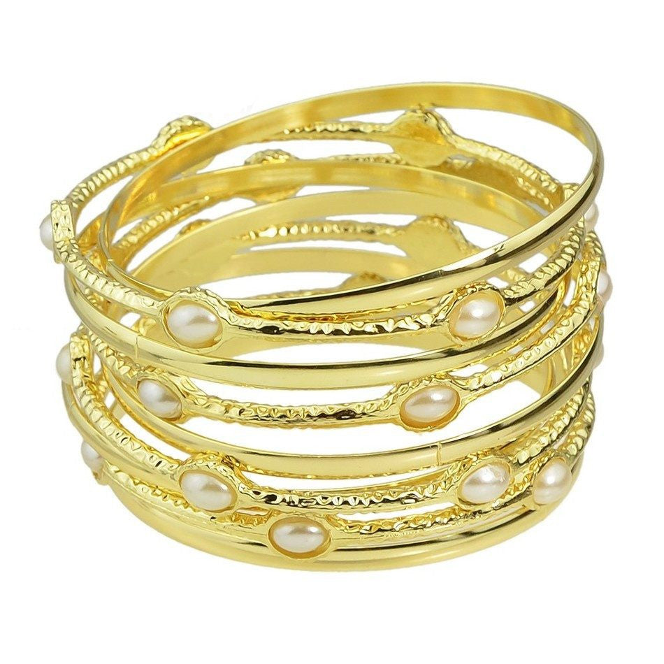 Fashion Bracelet - Shushan Gold Multilayer Fashion Bracelet Sets