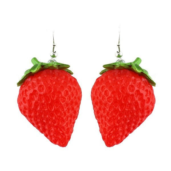 Fashion Drop Earrings - Rhoda Red Strawberry Drop Earrings