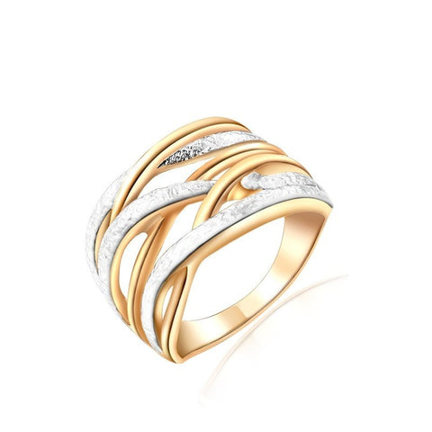 Fashion Ring - Andrea Unique Gold Plated Three Round Ring