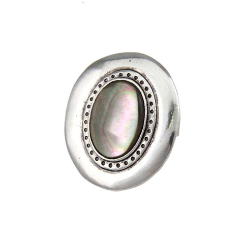 Fashion Ring - Jude Silver-Plated Vintage Shell Stone Unisex Ring