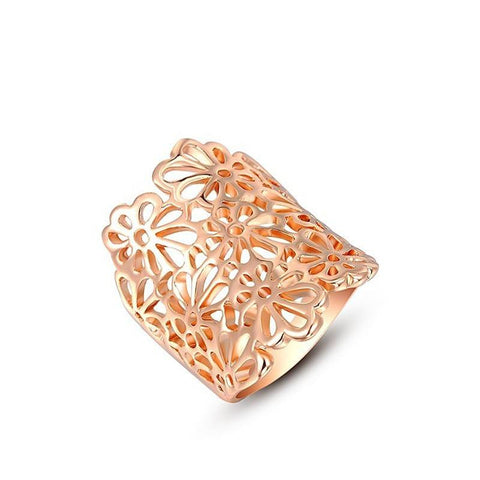 Fashion Ring - Serena Rose Gold Plated Flower Design Ring