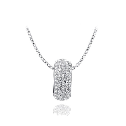 Fine Pendant Necklace - Alexis White Gold Plated Luxury Rhinestone Crystal Necklace