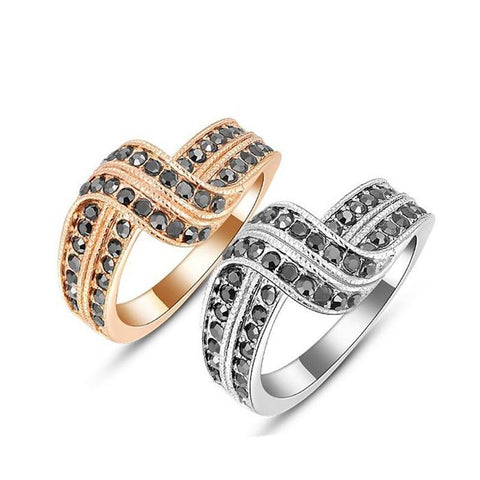 Fine Ring - Anna Elegant Rose Gold&White Gold Plated Crystal Ring