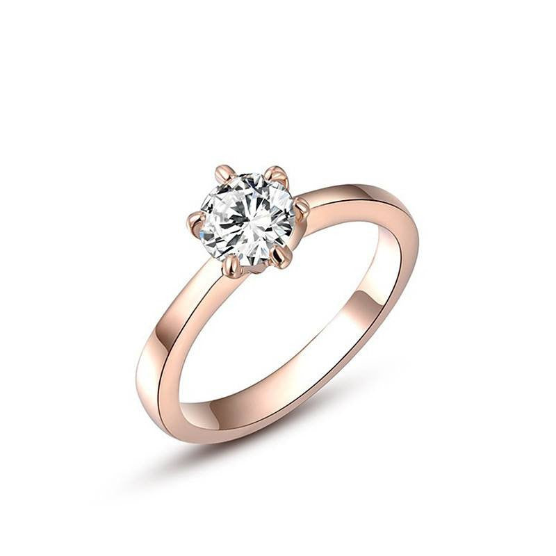 Fine Ring - Christina Rose Gold&White Gold Plated Ring With Crystal