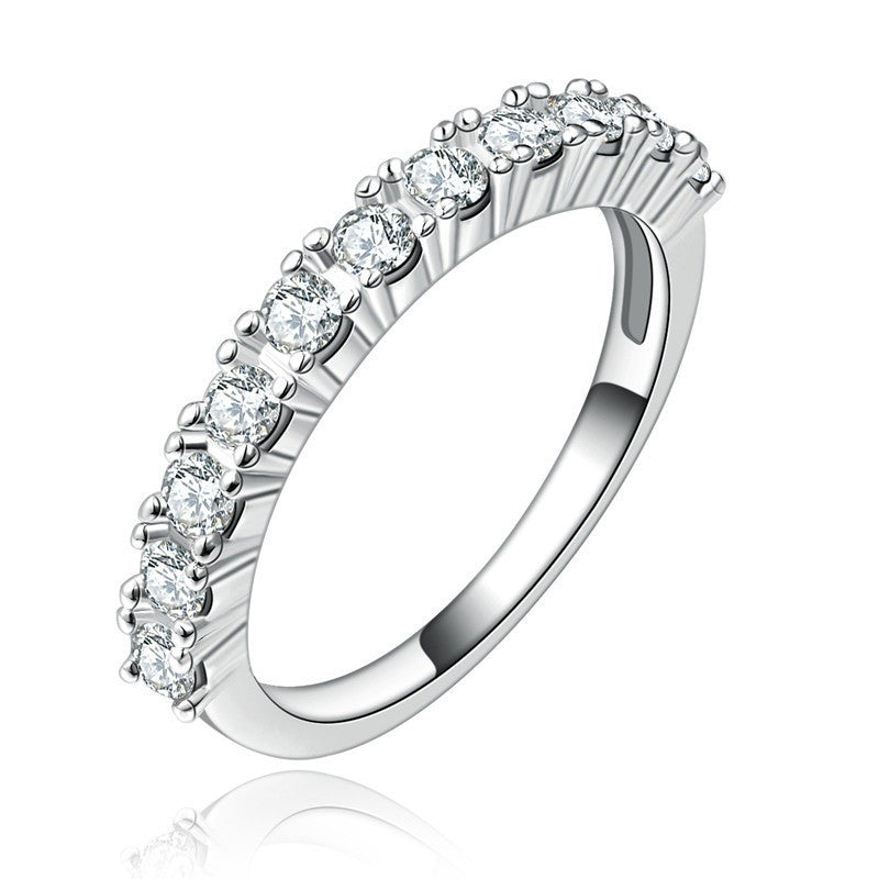 Fine Ring - Drusilla White Gold Plated Ring In Classic And Elegant Design With Clear CZ