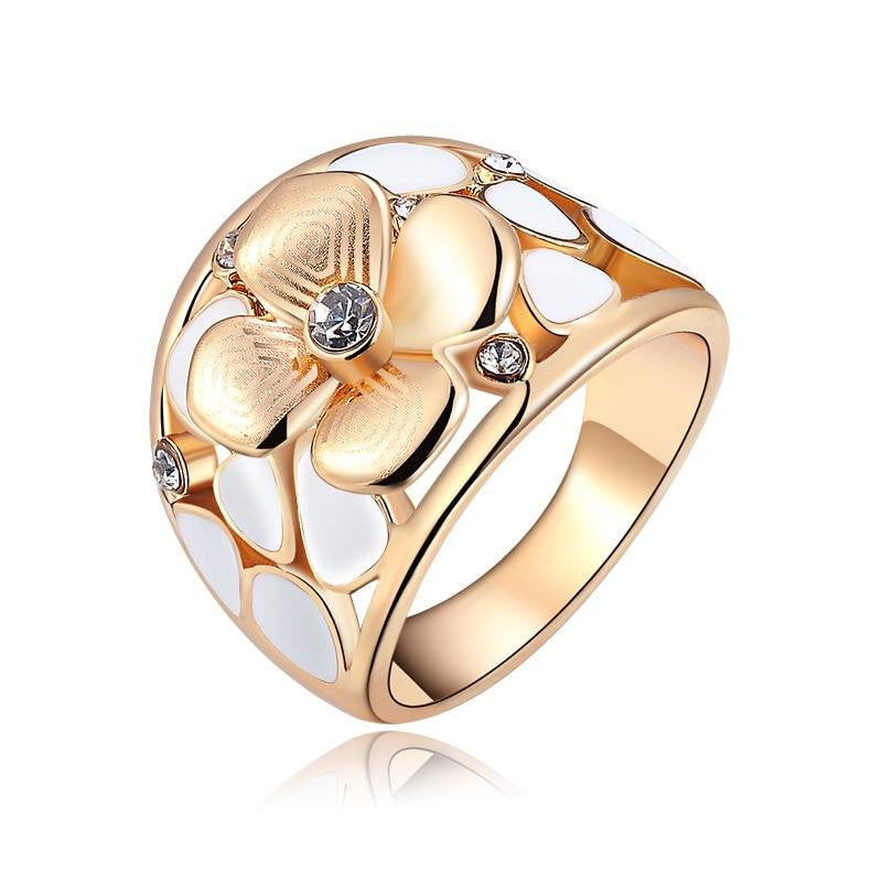 Fine Ring - Nora Rose Gold Plated Flower Design Ring