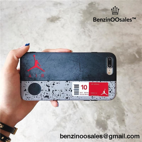 Distressed 23 AIR Michael Jordan shoe box shape phone cover Case For iphone Xs Max XR X 8 7 6 6s Plus -yeezy boostv2-ua-hypebeast-designer replicas clothing