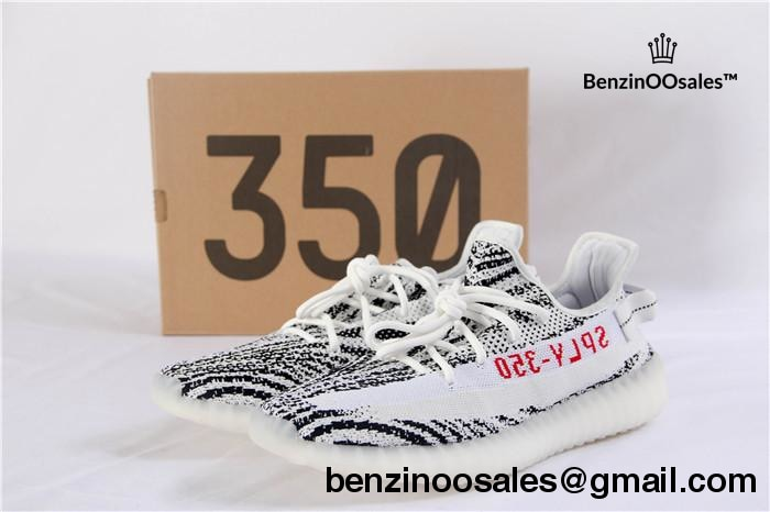 f703ca1181ed06 ADIDAS X YEEZY BOOST 350 V2 white with white stripe and red writing   ZEBRA