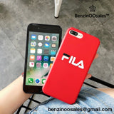 Aesthetic Bright FILA sport brand Hard Matte Protect cover case for iphone 6 S 7 7plus 8 8plus X 5 5S XR XS MAX -yeezy boostv2-ua-hypebeast-designer replicas clothing