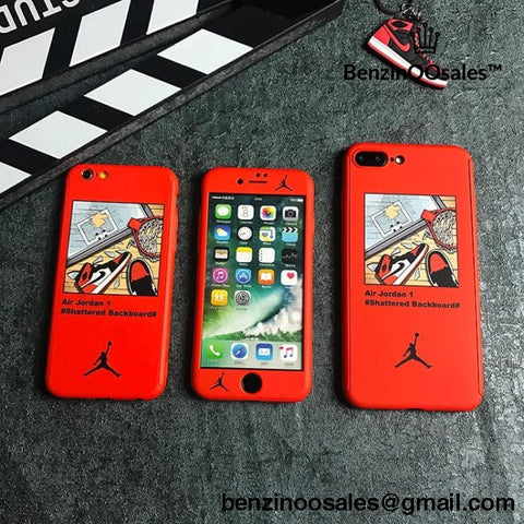 Air Jordan 360 Full protective Cover case for iphone 6 6S plus 8 7plus and X and Xmax -yeezy boostv2-ua-hypebeast-designer replicas clothing