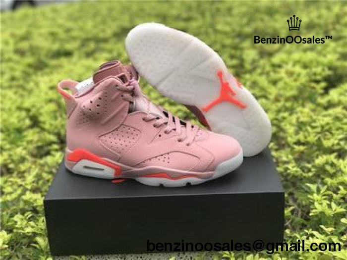 size 40 045a0 cd358 ... best price aleali may x nike air jordan 6 millenial pink collaboration  replica sneaker yeezy c0c72
