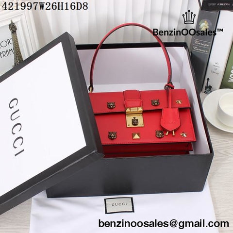 All RED GG brand studded handbag -yeezy boostv2-ua-hypebeast-designer replicas clothing