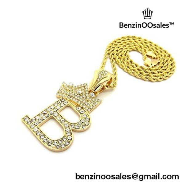 BenzinOOsales Letter B King Crown iced out -yeezy boostv2-ua-hypebeast-designer replicas clothing