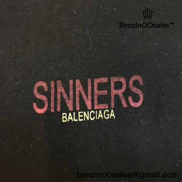 Best Quality Replica UA Balenciaga Sinners Tshirt available in Black and white -yeezy boostv2-ua-hypebeast-designer replicas clothing