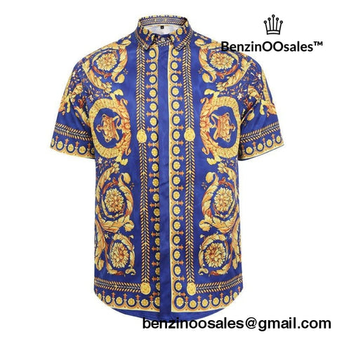 blue versace short sleeve t-shirt -yeezy boostv2-ua-hypebeast-designer replicas clothing