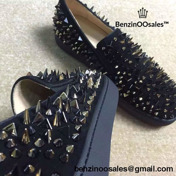 Christian Louboutin all black (extremely spikie) -yeezy boostv2-ua-hypebeast-designer replicas clothing
