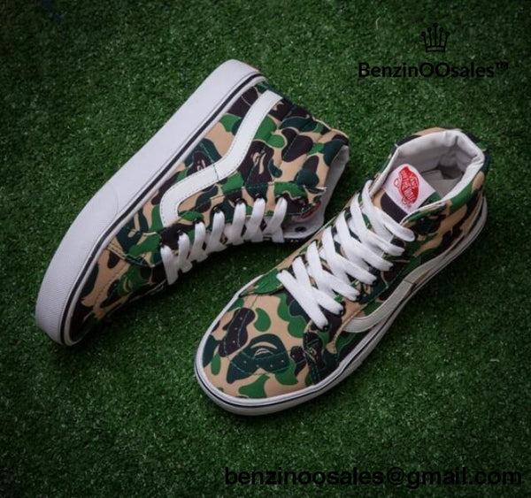 CUSTOM Hightop Vanz X Bape sneakers -yeezy boostv2-ua-hypebeast-designer replicas clothing