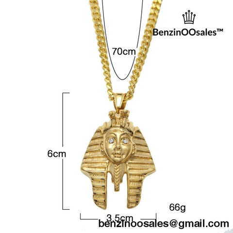 Egypt Charm Necklace Pharaoh King -yeezy boostv2-ua-hypebeast-designer replicas clothing