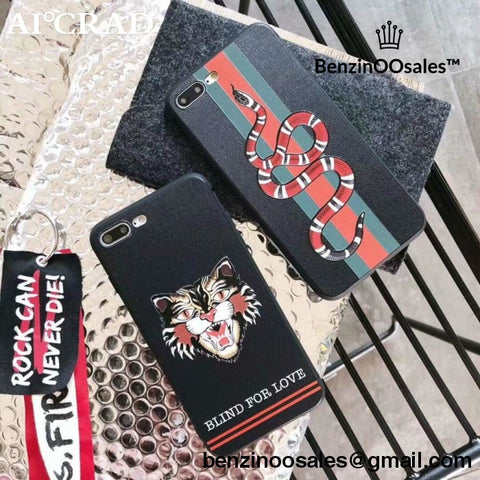 f4d5a15efab491 G GG Brand phone case for iPhone 8 Plus 6 6s 7 Plus X -yeezy