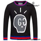 GG brand white and black sweater -yeezy boostv2-ua-hypebeast-designer replicas clothing
