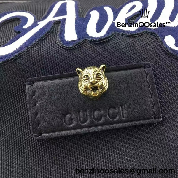 GG famous brand tiger embroidered  Black Backpack -yeezy boostv2-ua-hypebeast-designer replicas clothing
