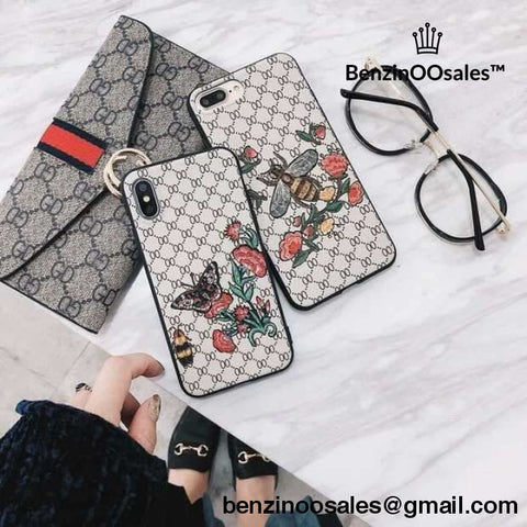 5f4e925c5f3a28 GG G brand Iphone X XR XS MAX7plus 6 6s 7 8 Plus Luxury Bee floral