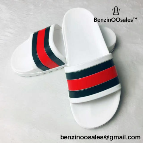 GG stipped flipflops slides -yeezy boostv2-ua-hypebeast-designer replicas clothing