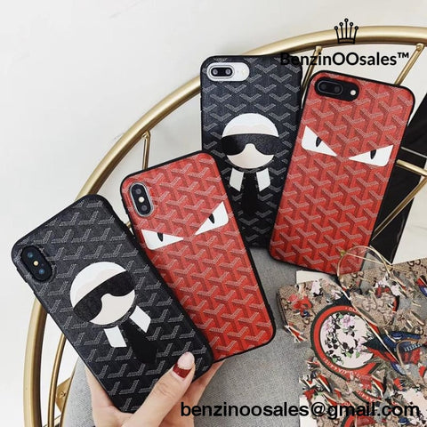 Goyard Cartoon Monsters soft phone case cover for iphone 6 6s 6plus 6splus 7 7plus 8 8plus X -yeezy boostv2-ua-hypebeast-designer replicas clothing