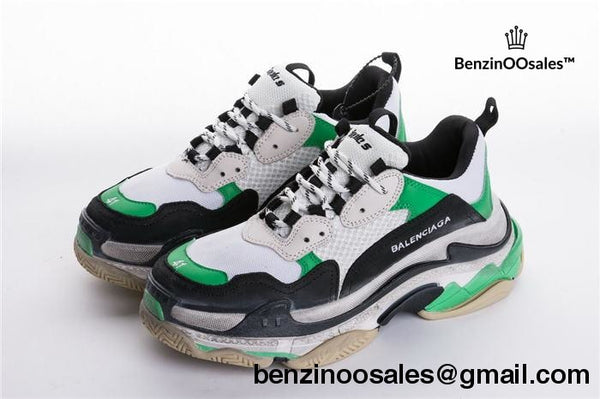 Green Balenciaga triple S replica trainer sneaker shoe -yeezy boostv2-ua-hypebeast-designer replicas clothing