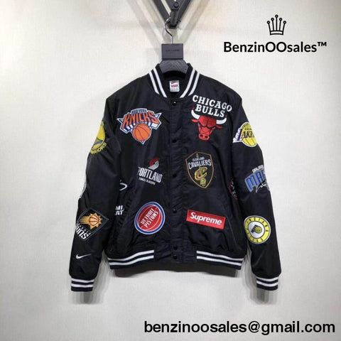 High quality Replica Supreme X Nike NBA Collaboration basketball warm up Bomber jacket -yeezy boostv2-ua-hypebeast-designer replicas clothing