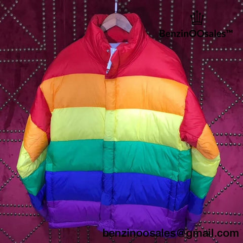 High quality replica UA burberry of london rainbow puffer winter jacket -yeezy boostv2-ua-hypebeast-designer replicas clothing