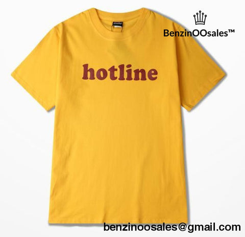 hotline tshirt yellow -yeezy boostv2-ua-hypebeast-designer replicas clothing