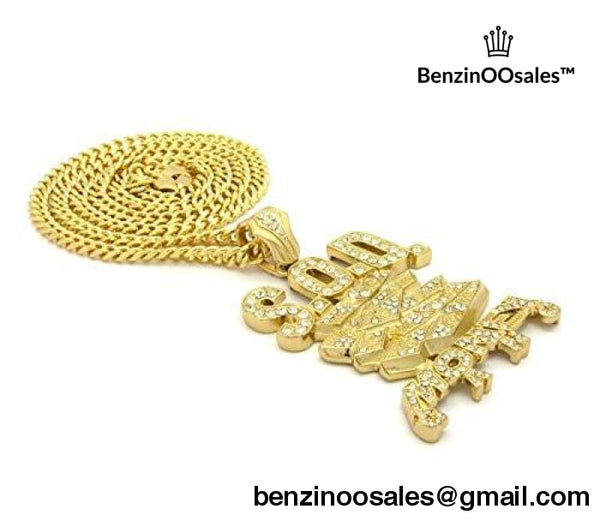 "ICED OUT SOD MONEY GANG PENDANT & 36"" CUBAN CHAIN  NECKLACE -yeezy boostv2-ua-hypebeast-designer replicas clothing"