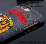 iphone GG tiger embroidered smartphone cover case -yeezy boostv2-ua-hypebeast-designer replicas clothing