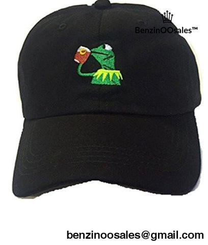 "Kermit The Frog ""sippin tea"" Adjustable Strapback -yeezy boostv2-ua-hypebeast-designer replicas clothing"
