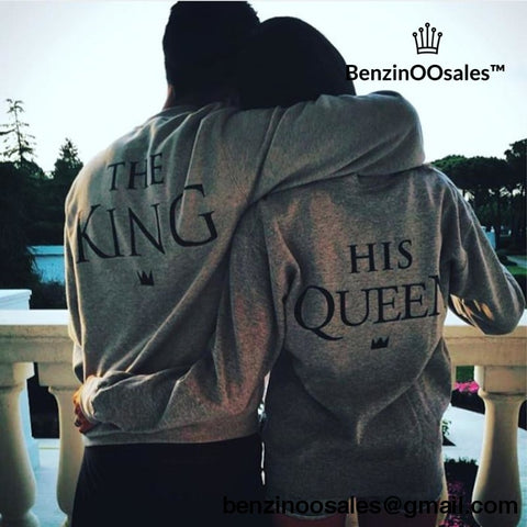 King and Queen Lovers s Sweatshirts -yeezy boostv2-ua-hypebeast-designer replicas clothing