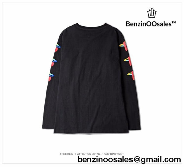 Long-sleeved Tee Shirts  Print DON'T PLAY -yeezy boostv2-ua-hypebeast-designer replicas clothing
