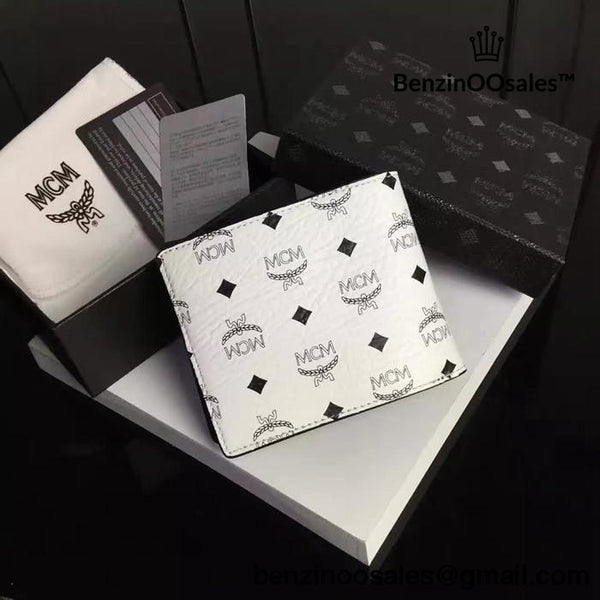 MCM CLAUS MONEY CLIP WALLET IN WHITE, SILVER and BLUE -yeezy boostv2-ua-hypebeast-designer replicas clothing